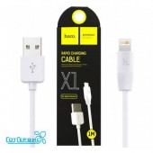 Дата-кабель USB HOCO для Apple 8-pin X1 1m White