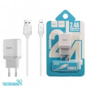СЗУ HOCO 1USB для Apple 8-pin C22A 2.4A (White)