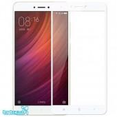 Защитное стекло Xiaomi Redmi Note 4X полное покрытие 3D (белый) (тех уп)