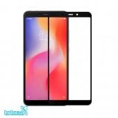 Защитное стекло полное покрытие для Xiaomi Redmi 6/Redmi 6A (черный) (тех упаковка)