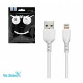 Дата-кабель USB 2.0A для Apple 8-pin HOCO X13 1м (White)