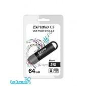 Флэш драйв USB 64GB 2.0 Exployd 570 Black