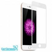Защитное стекло iPhone 6/6S (полное покрытие) (белый) (тех упаковка)