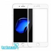 Защитное стекло iPhone 7/8 (полное покрытие) (белый) (тех упаковка)