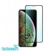 Защитное стекло iPhone X/XS/11 Pro (полное покрытие 3D) (черный) (тех упаковка)