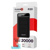 Внешний аккумулятор FUMIKO P20 20000 мАч черный