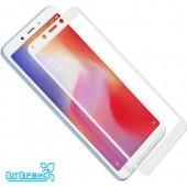 Защитное стекло полное покрытие для Xiaomi Redmi 6/Redmi 6A (белый) (тех упаковка)