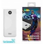 Внешний аккумулятор 10000mAh Smart 3USB 3A PD+QC3.0 быстрая зарядка More choice PB31S (White)