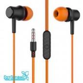 Наушники вакуумные AUX разъём с МК без рег.громкости More Choice G36 (Orange)