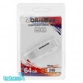 Флэш драйв USB 64GB 2.0 OltraMax 240 (White)