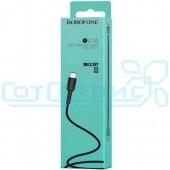 Дата-кабель USB 2.0A для Type-C BOROFONE BX16 1м (Black)