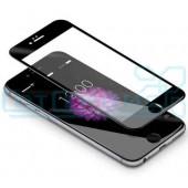 Защитное стекло iPhone 6/6S (полное покрытие) плоское (черный) (тех. уп.)