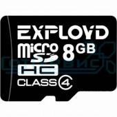 Карта памяти micro SD 8Gb Exployd class 4 без адаптера