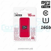 Карта памяти micro SD 16Gb Mirex class 10 без адаптера UHS-I