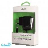 Зарядные устройства ЗУ сетевое Brera Classic Lightning 2A (black+black)