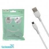Дата-кабель USB HOCO для micro USB X13 1м Wite