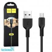 Дата-кабель USB HOCO для micro USB X20 Flash 2м (Black)